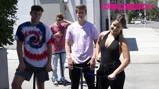 Tessa Brooks, Chance & Anthony Of Team 10 Speak On Ricegum & Alissa Violet While Riding Scooters