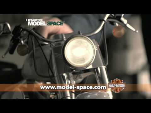 Build the Harley-Davidson Fat Boy Scale Model Kit from ModelSpace