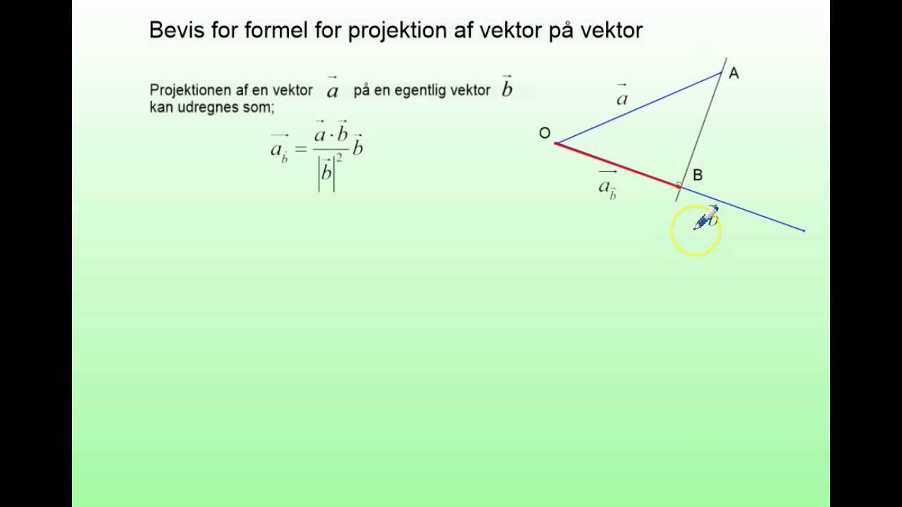 Projektion af vektor