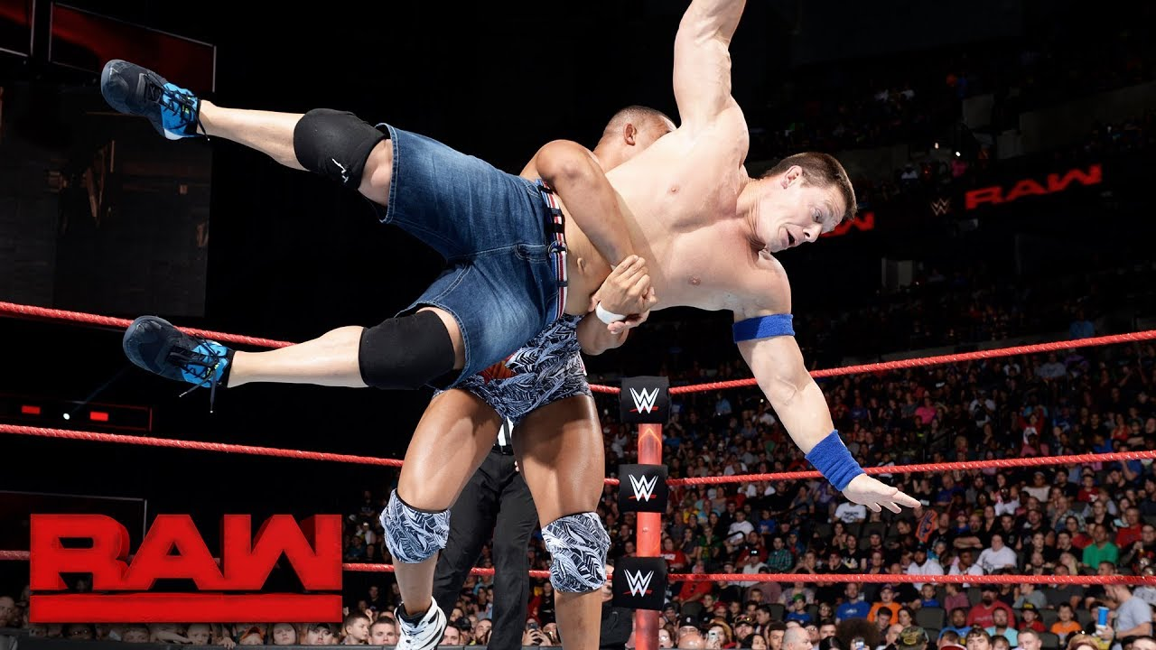 John Cena Vs Jason Jordan Raw Sept 4 2017