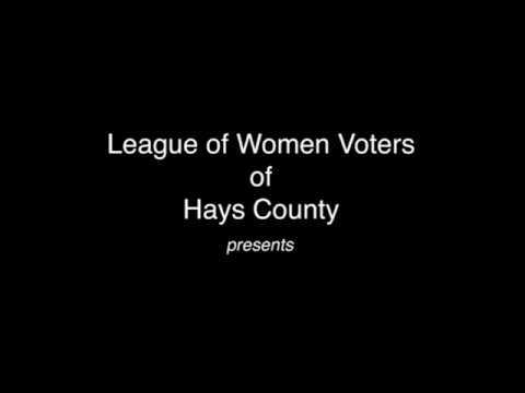 Hays County Women Voters Primary Election Debate 2018