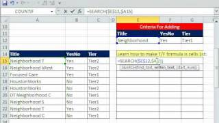 Excel Magic Trick 587: Conditional Formatting 3 Criteria including SEARCH for Text Contains Criteria