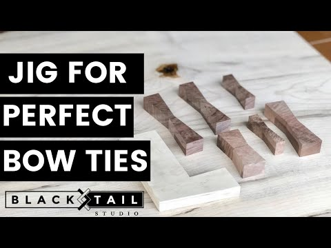Jig for PERFECT Bow Tie Joints — How to Woodworking