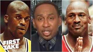 Stephen A. reacts to Shaq saying his 3-peat Lakers would have 'easily' taken MJ's Bulls | First Take