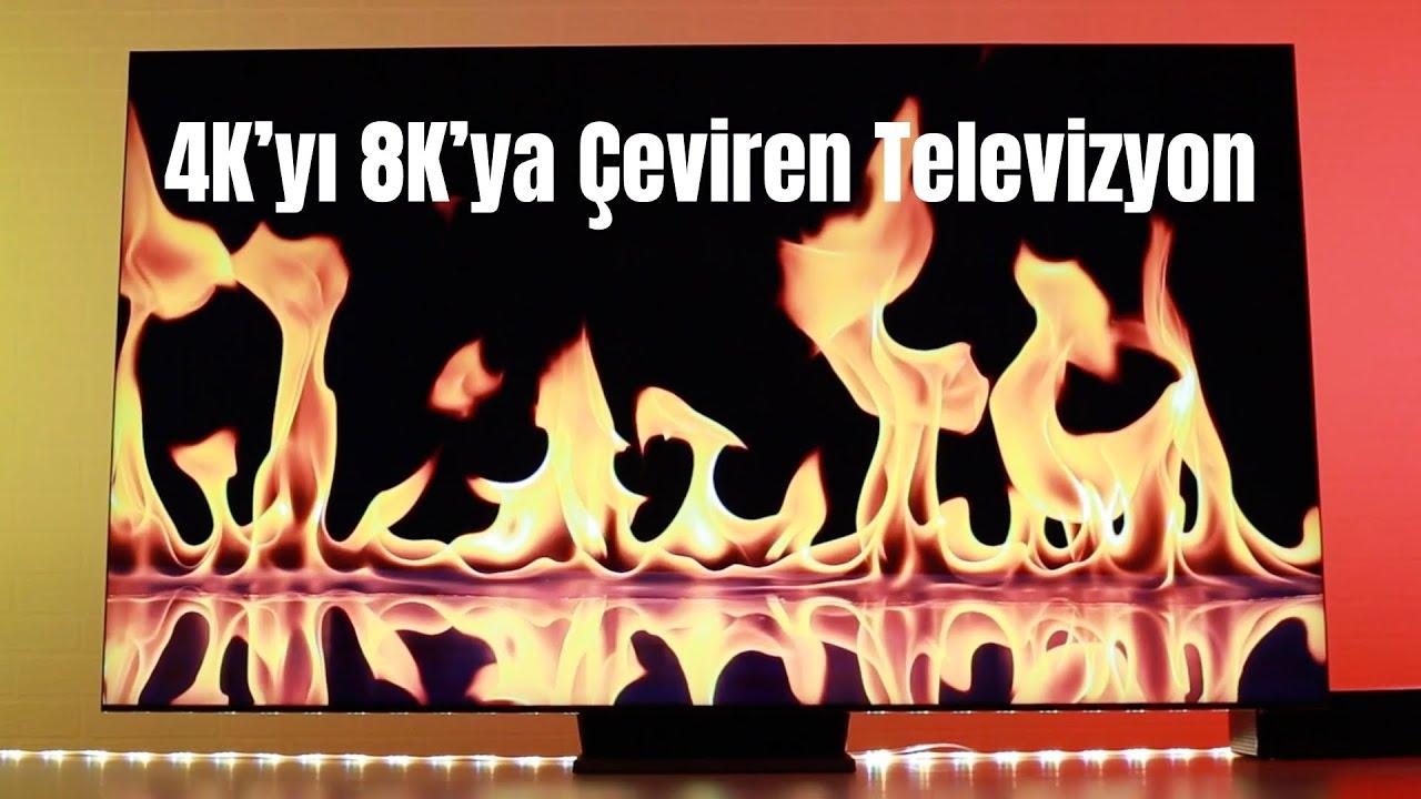 """4k'yı 8K'ya Yükselten, Gerçekten Çerçevesiz Samsung 65"""" QLED 8K TV inceleme"""