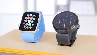 Apple Watch vs Moto 360(A comparison between the Apple Watch and the Moto 360! Great Deals on Tech! - http://amzn.to/18XUEcc Social networks: Twitter: ..., 2015-04-27T02:17:07.000Z)