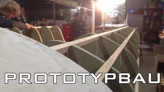 Building A Sailing Boat/skiff/dinghy Prototype... Eine Jolle/boot/skiff Zum Segeln Bauen...