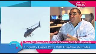 Diego Concha: Combaten incendios en Córdoba