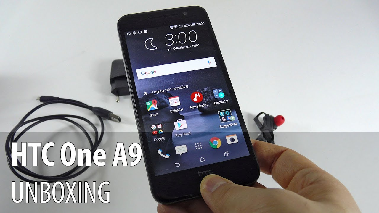 HTC One A9 Unboxing/Preview în Limba Română (Android 6.0 ...