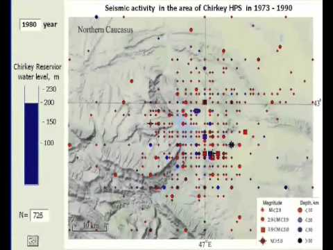 Induced seismicity in the area of Chirkey HPP