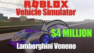 Buying a LAMBORGHINI VENENO ($4 MILLION CAR!) | Roblox Vehicle Simulator