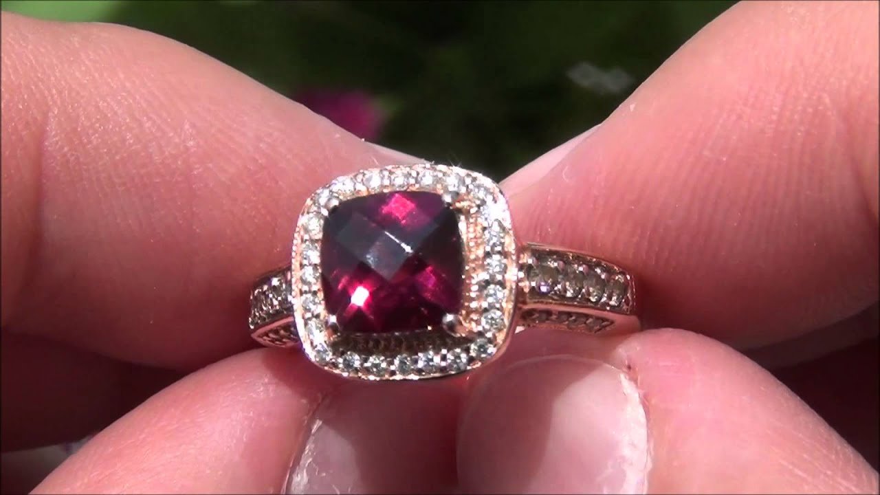 cocktail designer garnet engagement gold vian levian ring jewelry diamond le chocolate rhodolite shop rose rings
