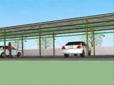 Google SketchUp desain Atap Parkir oleh
