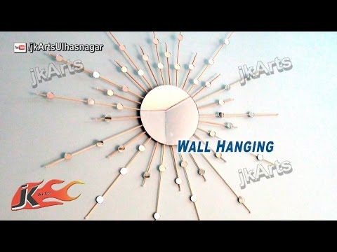 DIY sunburst Mirror Wall Hanging | How to Make | JK Arts 577