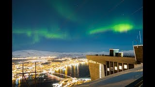 Video Amazing Views and Northern Lights over the City of Tromso - Best Day Ever! download MP3, 3GP, MP4, WEBM, AVI, FLV September 2018