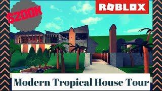 Roblox | Bloxburg: Casa tropicale moderna (TOUR)