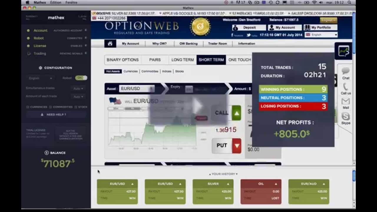 Machine code in binary trading trading system