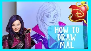 How to Draw MAL from Disney