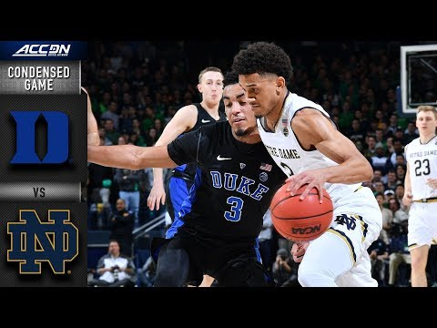 Duke vs. Notre Dame Condensed Game | 2018-19 ACC Basketball