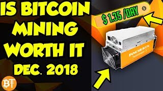 Is Bitcoin (BTC) mining worth it Dec. 2018? BTC mining ASICs