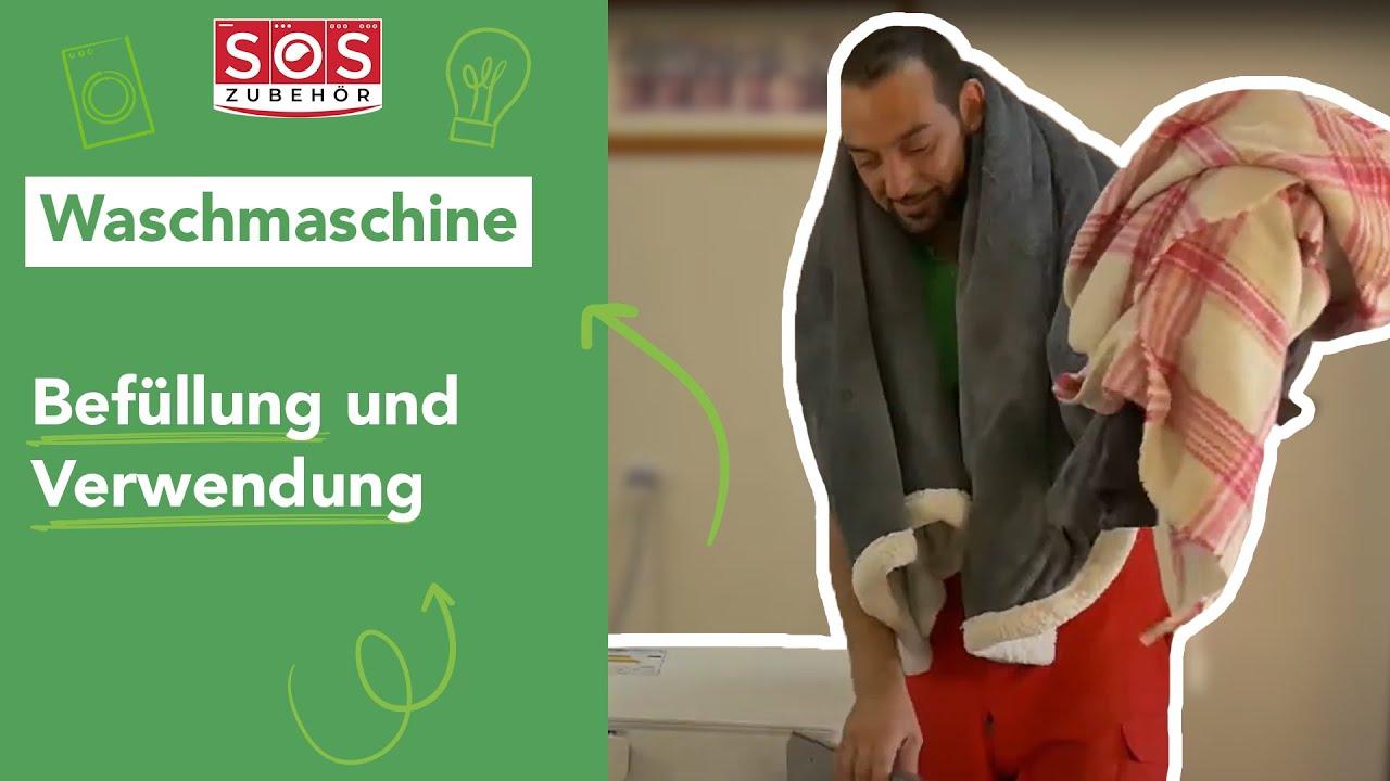 Wie füllt man seine frontlader-waschmaschine richtig