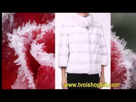 эффектный женский  полушубок из норки и бобра -YouTube