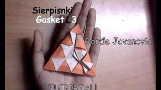 Origami Tutorial: Sierpinski Gasket L3 - Đorđe Jovanovic