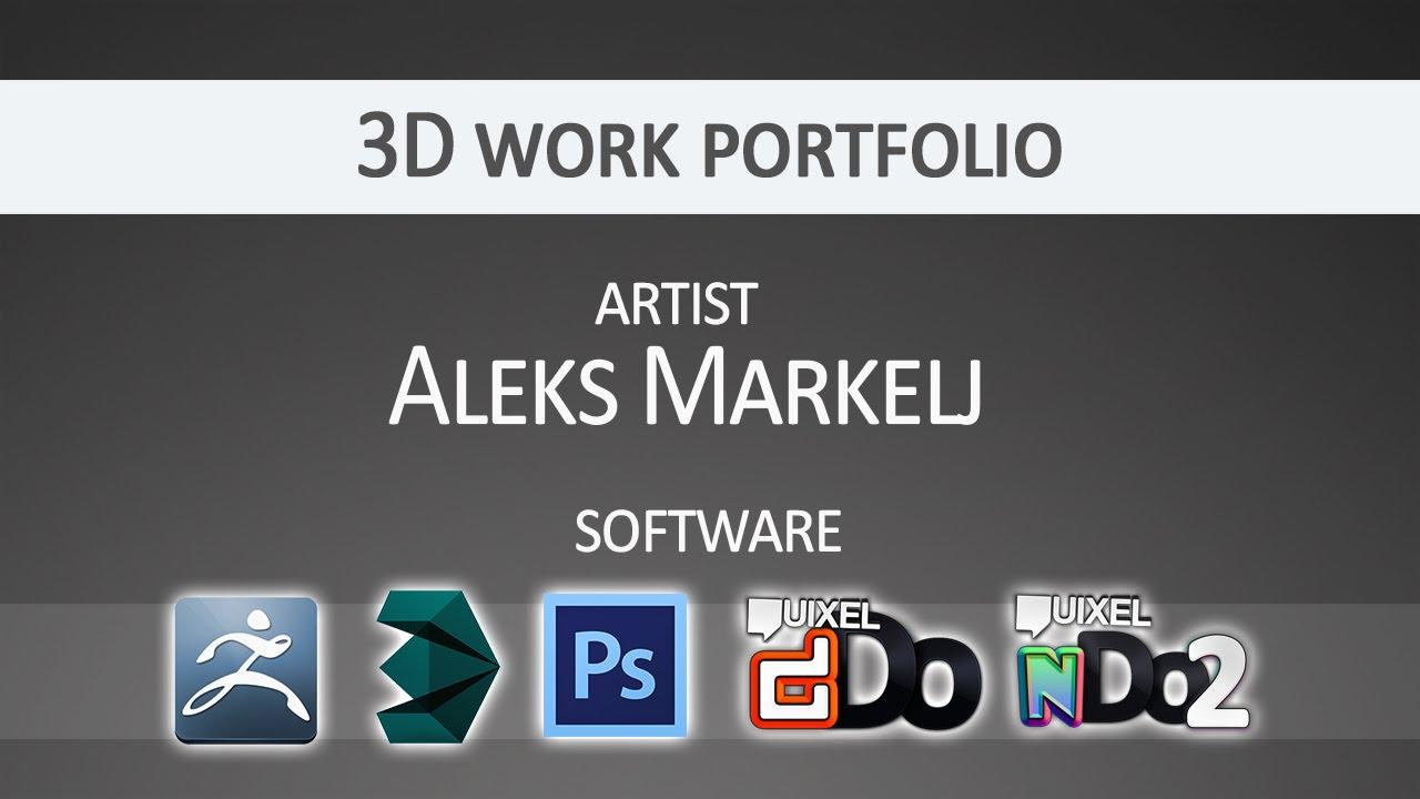 d work portfolio aleks markelj 3d work portfolio aleks markelj