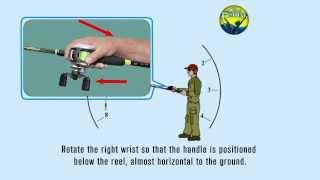 How to cast a Baitcasting reel - Overhead Cast