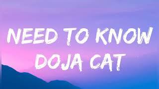 Doja Cat - Need To Know lyrics