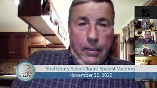 Shaftsbury Select Board Special Meeting // 11/30/20