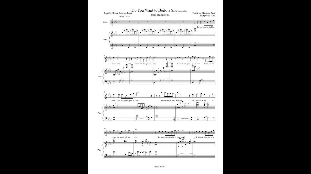 Do you want to build a snowman piano accompaniment sheet for What do i need to do to build a house