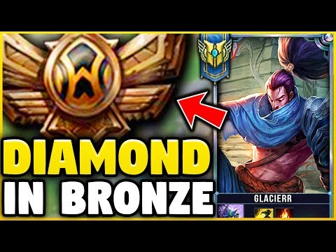 I TOOK MY YASUO INTO BRONZE FOR THE FIRST TIME! DIAMOND YASUO VS BRONZE ELO! - League of Legends