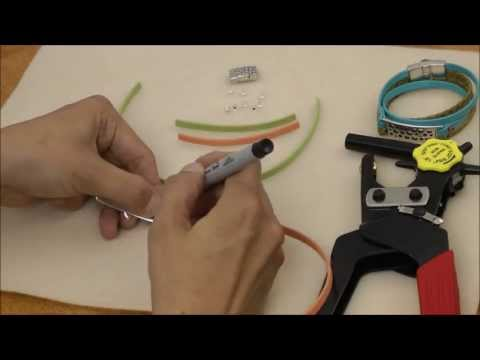 Antelope Beads - Wrapped Double Riveted Cuff Arizona Leather Bracelet Tutorial
