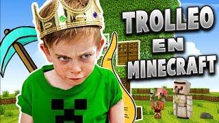 NIÑO RATON me MUESTRA su casita de Minecraft 😂