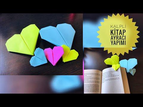 Kalpli Kitap Ayracı Yapımı #Origami❤️ Heart Made