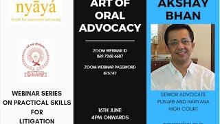 Art of Oral Advocacy | Mr. Akshay Bhan | Nyaya Forum