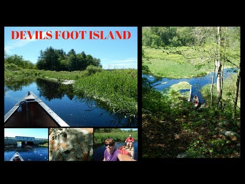 Canoeing out to Devils Foot Island ~ Stop River ~ Medfield Massachusetts