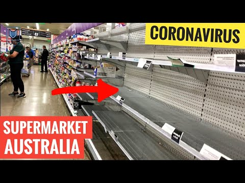 Supermarket in Sydney & Sold out TOILET PAPER (shopping news Australia)