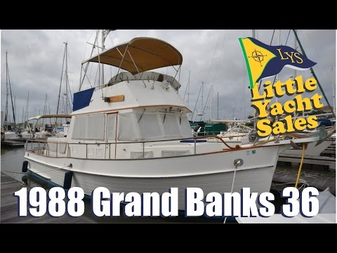 1988 Grand Banks 36 Trawler Yacht for sale at Little Yacht Sales, Kemah Texas