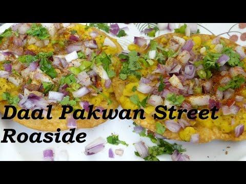Daal Pakwan Recipe - Street Roadside Snack Recipe - How To Make Sindhi Dal Pakwan In Indian Style