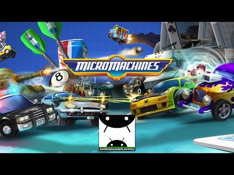 Micro Machines Android GamePlay Trailer [1080p/60FPS] (By CHILLINGO)