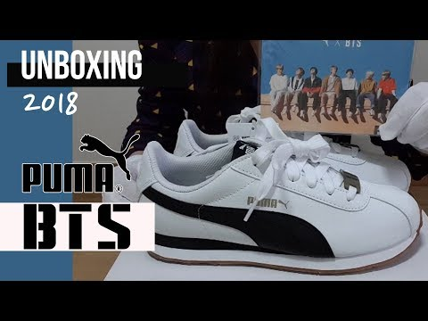 Unboxing 2018 New Model Sneakers BTS (feat : Puma)