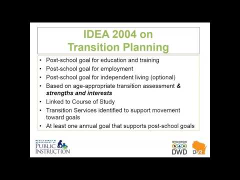 The PTP, Transition Services, and WIOA Creating Opportunities