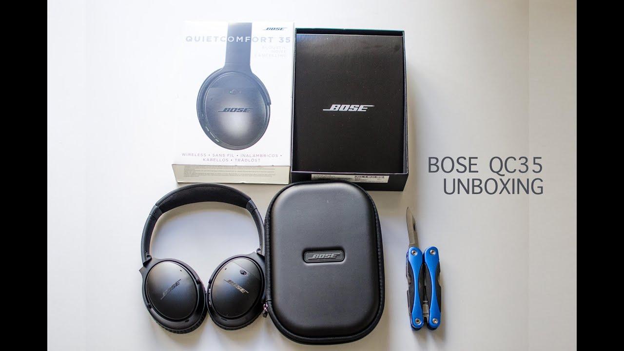 bose qc35. bose quiet comfort qc35 headphone unboxing bose qc35 t