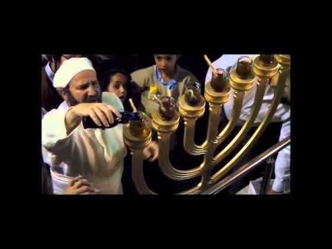 Rabbi Yisrael Ariel Conducts Holy Temple Menorah Lighting Rehearsal