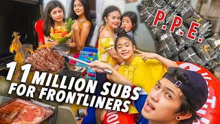 11 MILLION SUBS Simple Celeb! (PPE For Frontliners) | Ranz and Niana