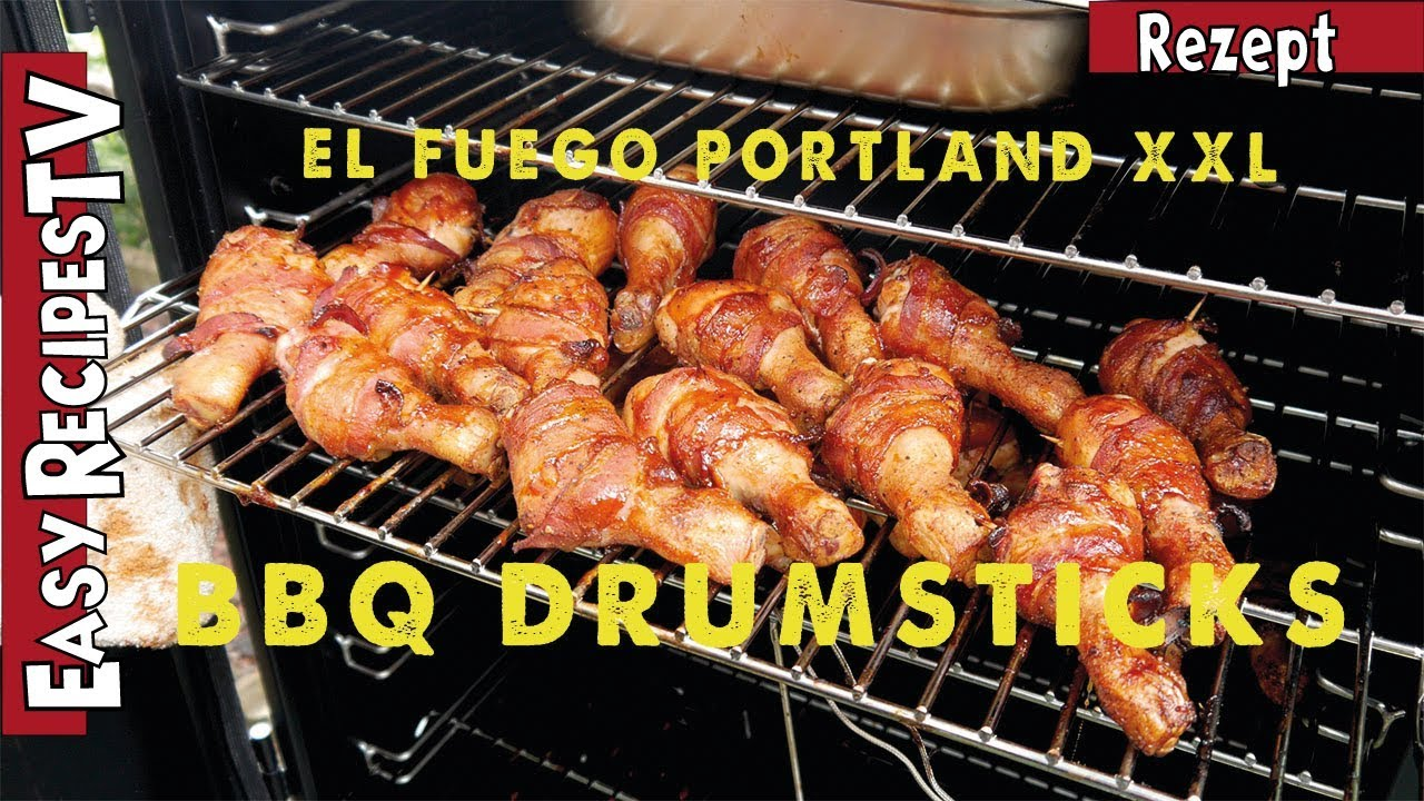 Rauchfreier Holzkohlegrill Xxl : Bbq drumsticks aus dem el fuego portland xxl youtube