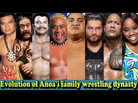WWE Anoa'i Family Evolution From 1 To 16 Members (Peter Maivia - Roman Reigns)