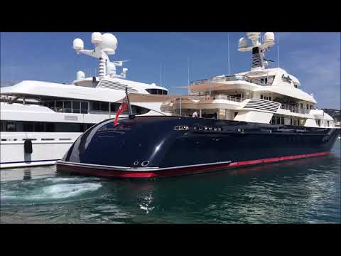 The US$ 90,000,000 [Yacht COCOA BEAN] leaving Cannes